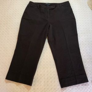 INC brown crop pant with cuffs size 12